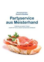 Partyservice aus Meisterhand - Genuss-Factory