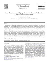 Land abandonment and slope gradient as key factors of soil erosion ...
