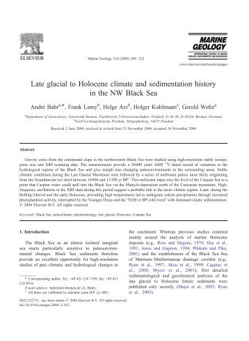 Late glacial to Holocene climate and sedimentation ... - geo.edu.ro