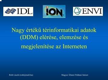 (DDM) elérése, elemzése és megjelenítése az Interneten