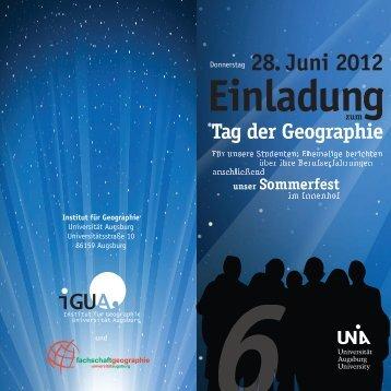 Flyer - Institut für Geographie