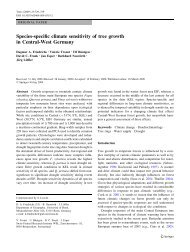 Species-specific climate sensitivity of tree growth in Central-West ...