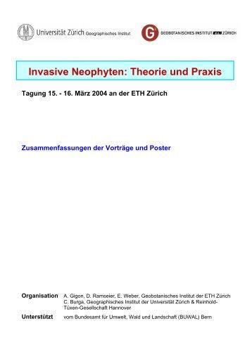 Invasive Neophyten: Theorie und Praxis