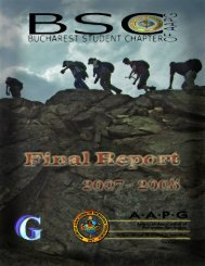 Final Report of the Bucharest Student Chapter of AAPG - geo.edu.ro