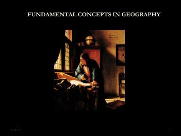 FUNDAMENTAL CONCEPTS IN GEOGRAPHY
