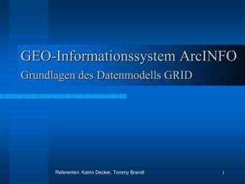 GEO-Informationssystem ArcINFO