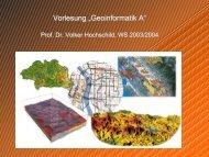 Vorlesung 'Geoinformatik A—