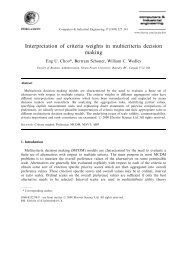 Interpretation of criteria weights in multicriteria decision making