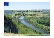 Hydrological Processes (HRU-Delineation)