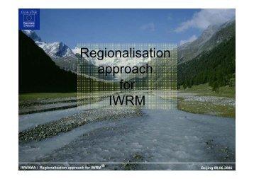 Regionalisation approach for IWRM