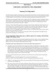 IPCC draft report Summary 20/01/2001