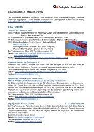 Newsletter 12/2012 - Geologische Bundesanstalt