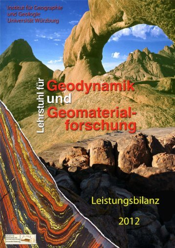 Leistungsbilanz des Lehrstuhls für Geodynamik und ...