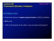 Lecture 28: Framework Silicates: Feldspars Read Chpt 12