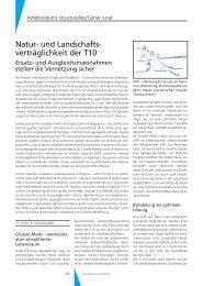Natur- und Landschafts- verträglichkeit der T10 - Geomatik Schweiz