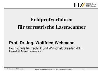 Feldprüfverfahren für terrestrische Laserscanner - Geomatik ...