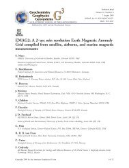 EMAG2: A 2–arc min resolution Earth Magnetic ... - Geomagnetism