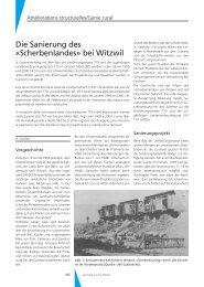 Die Sanierung des «Scherbenlandes» bei Witzwil - Geomatik Schweiz