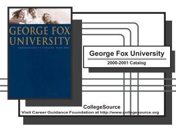 2000-01 - George Fox University
