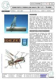 FERME-PORTE A CREMAILLERE DROITE EN 1 à 6 « TS-4000 ...