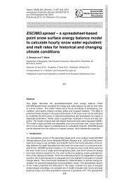 ESCIMO.spread – a spreadsheet-based point snow surface ... - GMDD