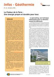 Infos-Géothermie N°10 - Octobre 2005 - Geothermie