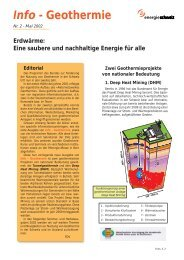 Info - Geothermie - Nr. 2 - Mai 2002 - Was ist Geothermie