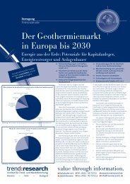 Der Geothermiemarkt in Europa bis 2030 - trend:research