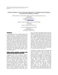 Subsystem Design and Validation for Optical Sensors for Monitoring ...
