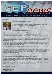 GEP NEWS LUGLIO 2011.pptx - GEP Informatica Srl