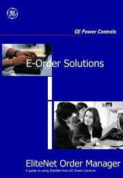 E-Order Solutions - GE Power Controls