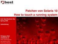 Patchen von Solaris 10 - best Systeme Gmbh