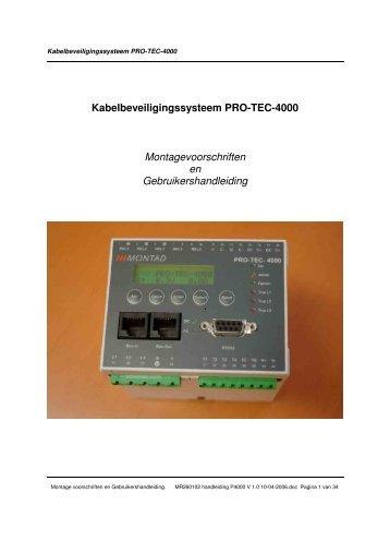 Kabelbeveiligingssysteem PRO-TEC-4000 Montagevoorschriften en ...