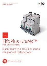 Interruttori magnetotermici compatti Serie UNIBIS - G E Power Controls