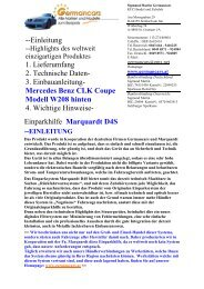 --Einleitung 1. Lieferumfang 2. Technische Daten- 3 ... - Germancars.at