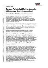 Pressemitteilung als pdf - German Pellets