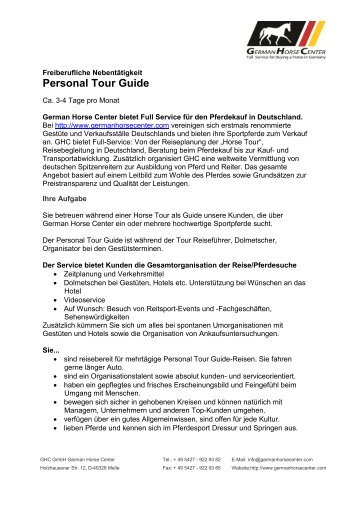 Personal Tour Guide - German Horse Center