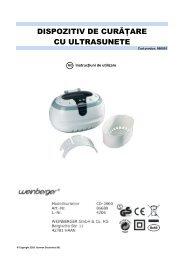 dispozitiv de curăţare cu ultrasunete - German Electronics