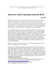 Interview with Comrades from the RAF - German Guerilla