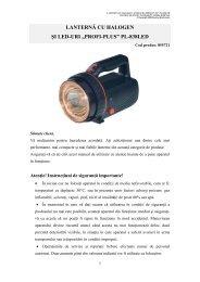 """lanternă cu halogen şi led-uri """"profi-plus"""" pl-838led - German ..."""