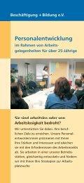 Personalentwicklung - Beschäftigung + Bildung ev