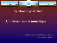 Syndrome post chute - Geronto-Normandie