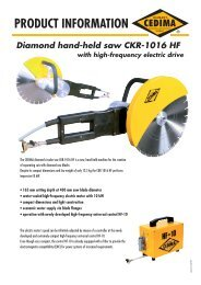 PRODUCT INFORMATION Diamond hand-held ... - CEDIMA GmbH