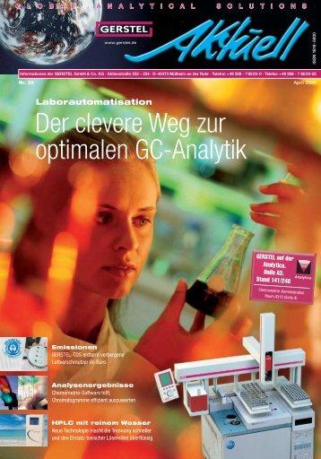 GERSTEL Aktuell Nr. 32 (pdf; 1,14 MB) - Gerstel GmbH & Co.KG