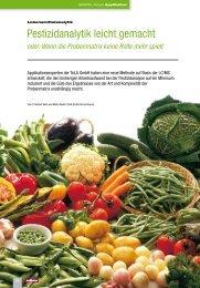 Pestizidanalytik leicht gemacht