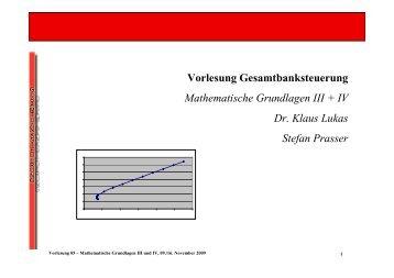 Mathematische Grundlagen III+IV - Gesamtbanksteuerung