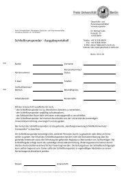Schließtransponder - Ausgabeprotokoll - Fachbereich Geschichts ...