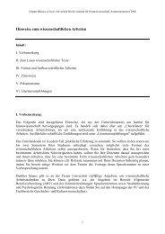 Hinweise zum wissenschaftlichen Arbeiten - Fachbereich ...