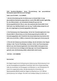 OVG Nordrhein-Westfalen: Keine Einschränkung des ...
