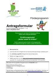 Allgemeine Daten Träger + TEK - Gesunde Kinder - Kommt mit in ...